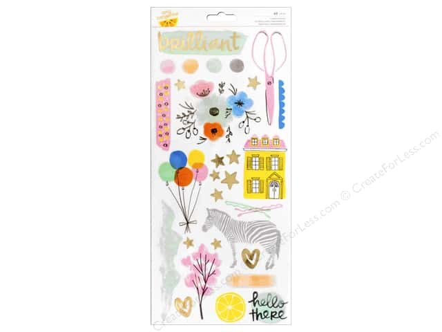 American Crafts Stickers Amy Tangerine Finders Keepers Gold Foil