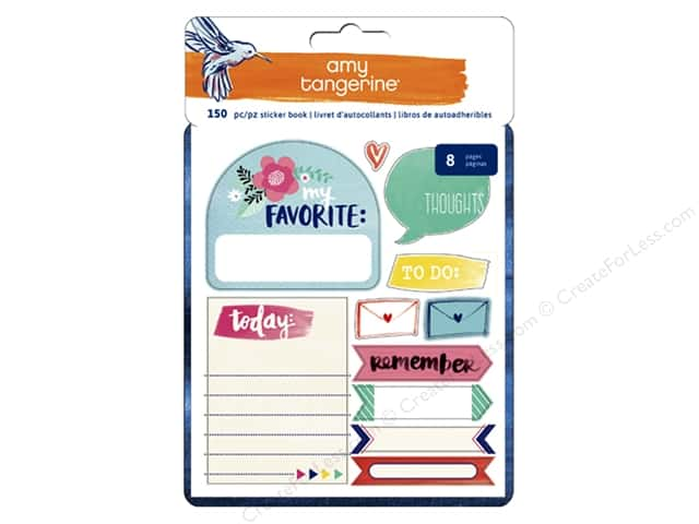 American Crafts Sticker Book Amy Tangerine Better Together