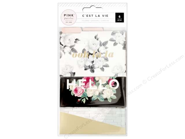 Pink Paisley Collection C'est La Vie Mini File Folder
