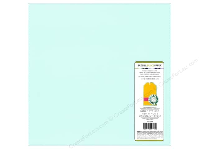 "Bazzill Plastic Embossing Sheet 12""x 12"" Seaglass (15 sheets)"