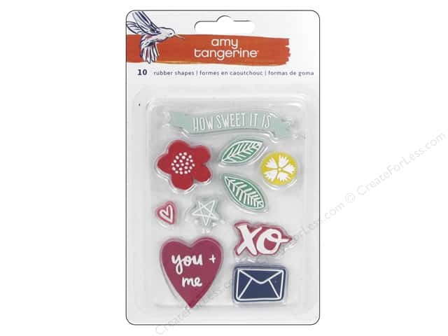 American Crafts Rubber Shapes 10 pc. Amy Tangerine Better Together