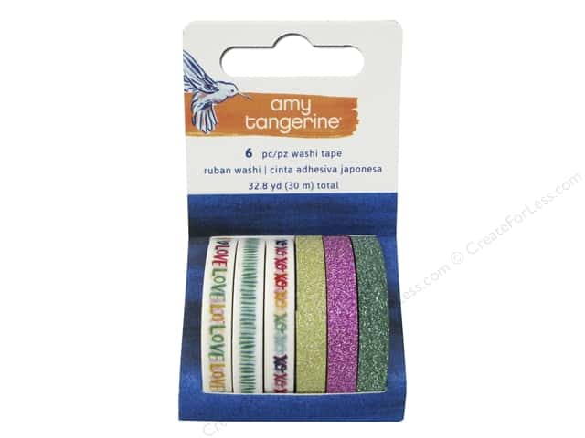 American Crafts Washi Tape 6 pc. Amy Tangerine Better Together