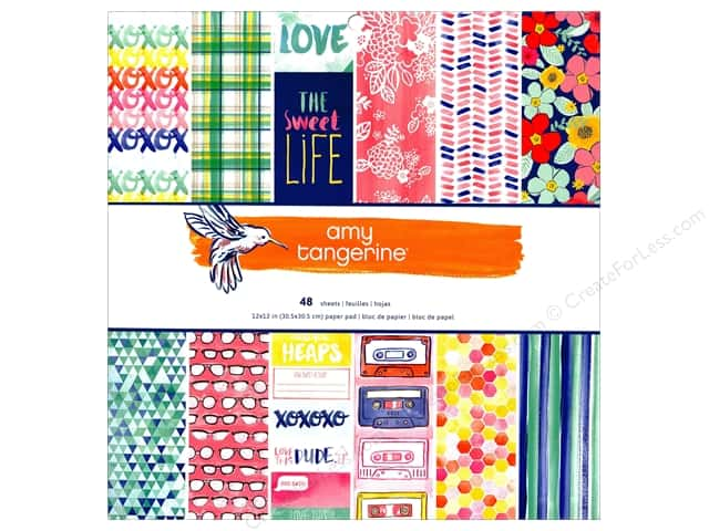 American Crafts 12 x 12 in. Paper Pad Amy Tangerine Better Together