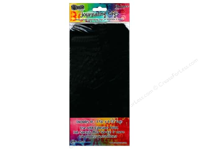 Ranger Dylusions Accessories Tags #10 Black