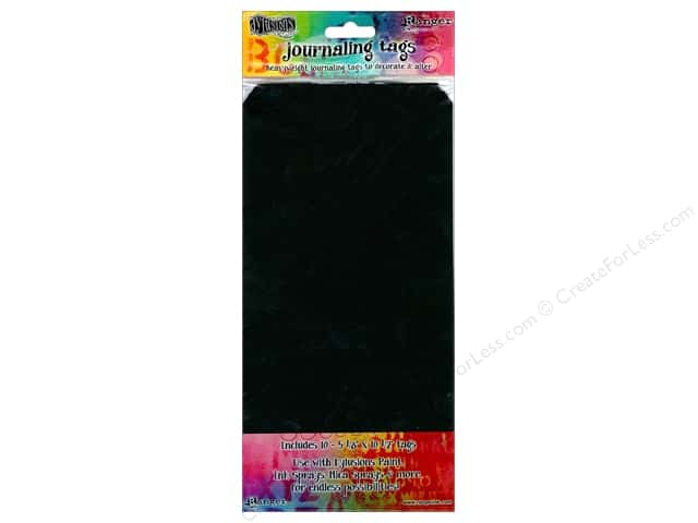 Ranger Dylusions #12 Journaling Tags 10 pc. Black