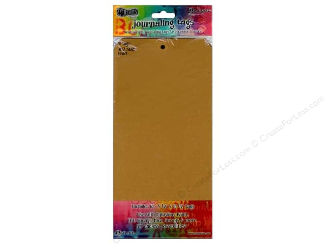 Ranger Dylusions Accessories Tags #12 Kraft