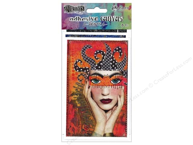 Ranger Dylusions Accessories Adhesive Canvas Printed