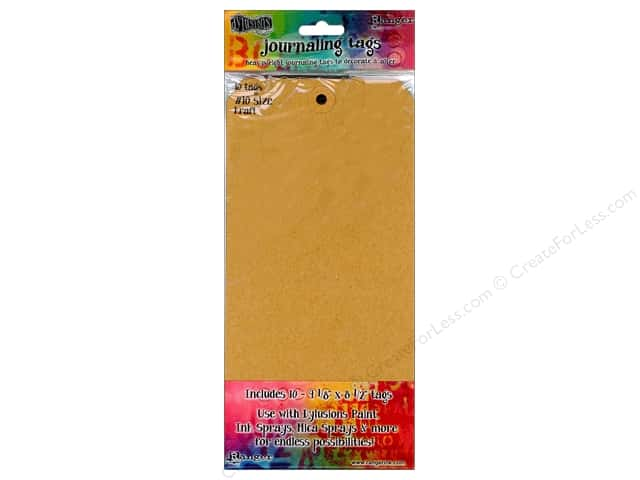 Ranger Dylusions Accessories Tags #10 Kraft