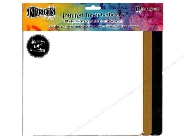 Ranger Dylusions Accessories Journal Insert Assorted Square
