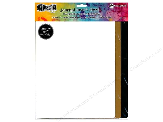 Ranger Dylusions Journal Insert Sheets Assorted Large