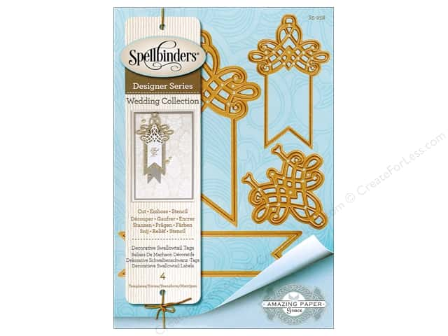 Spellbinders Die Shapeabilities Deco Swallowtail Tags