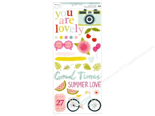 American Crafts Stickers Dear Lizzy Happy Place Accents & Phrases