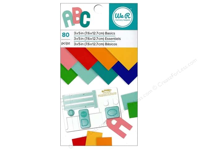 "We R Memory Paper Pad 3""x 5"" Basics 80pc"