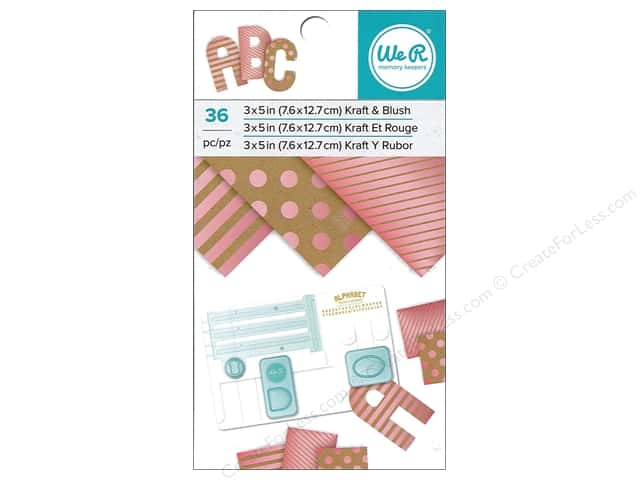 "We R Memory Paper Pad 3""x 5"" Kraft With Blush Foil 36pc"