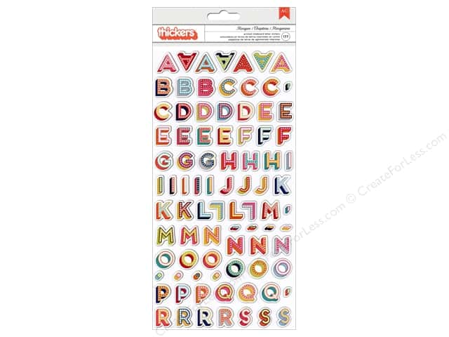 American Crafts Thickers Alphabet Stickers Shimelle Starshine Marquee