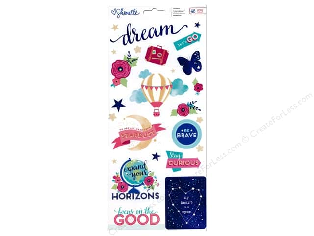 American Crafts Stickers Shimelle Starshine Accents & Phrase