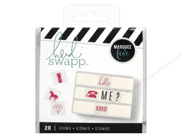 Heidi Swapp LightBox Inserts 20 pc. Pink Icons
