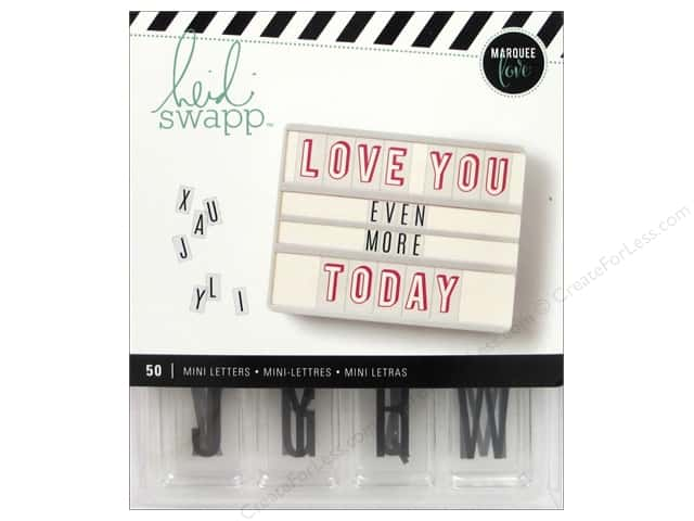 Heidi Swapp LightBox Inserts 50 pc. Mini Alphabet Black