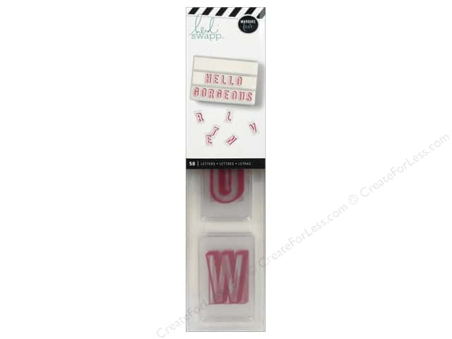 Heidi Swapp LightBox Inserts 50 pc. Alphabet Pink Shadow