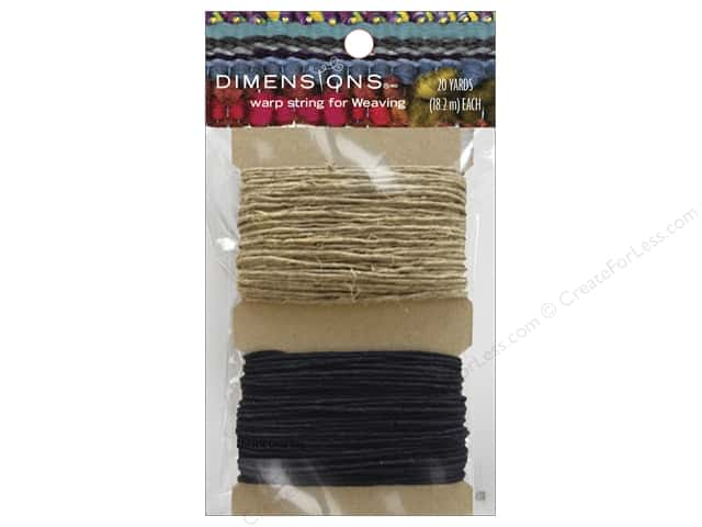 Dimensions Weaving Warp String Black/Natural