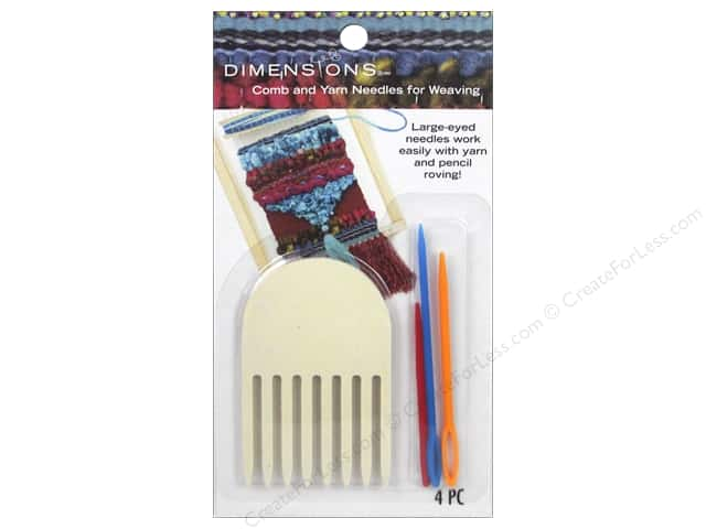 Dimensions Tools Weaving Comb & Yarn Needles