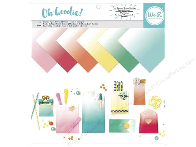 """We R Memory Collection Oh Goodie Glassine 12""""x 12"""" Ombre 24pc"""