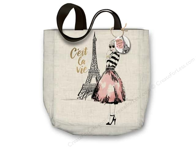 "Molly & Rex Bag Canvas Tote 15""x 16"" C'est La Vie"