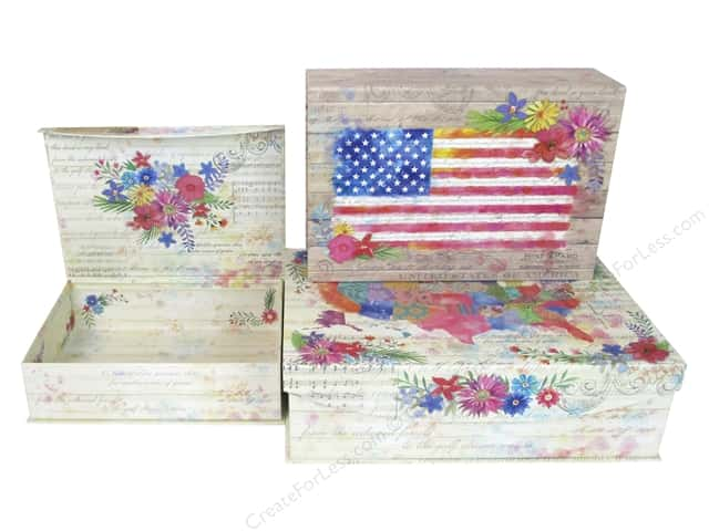Punch Studio Nesting Boxes Large American Beauty Set/3
