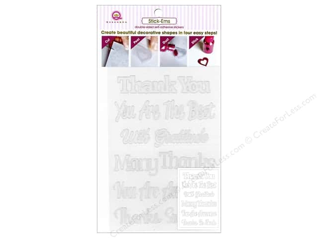 Queen&Co Collection Toppings Stick'ems Thank You Sentiments