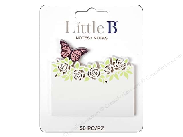 Little B Paper Adhesive Notes Butterfly