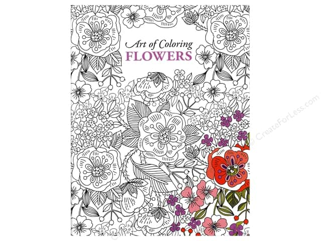 Leisure Arts Art of Coloring Flowers Coloring Book
