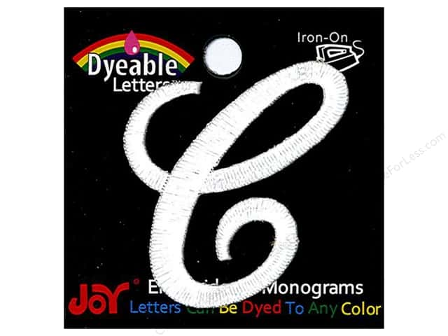 "Joy Lettershop Iron-On Embroidered Letter 1 1/2 in. Script ""C"" Dyeable"