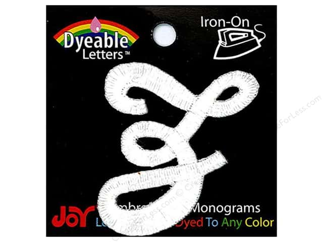 "Joy Lettershop Iron-On Embroidered Letter 1 1/2 in. Script ""Z"" Dyeable"