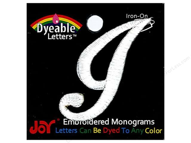 "Joy Lettershop Iron-On Embroidered Letter 1 1/2 in. Script ""I"" Dyeable"