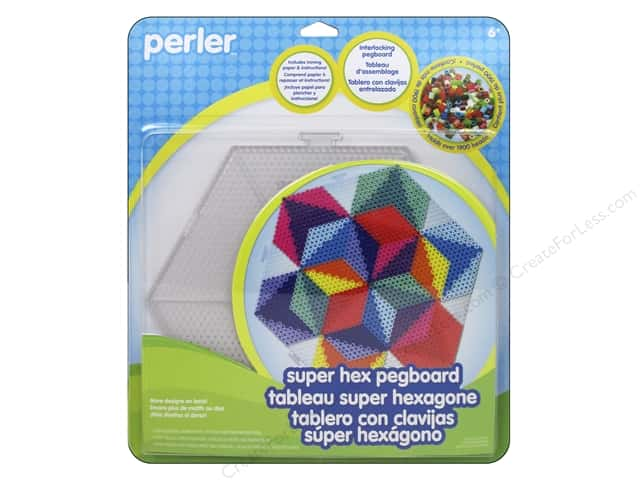 Perler Fused Bead Pegboards Set Super Hex