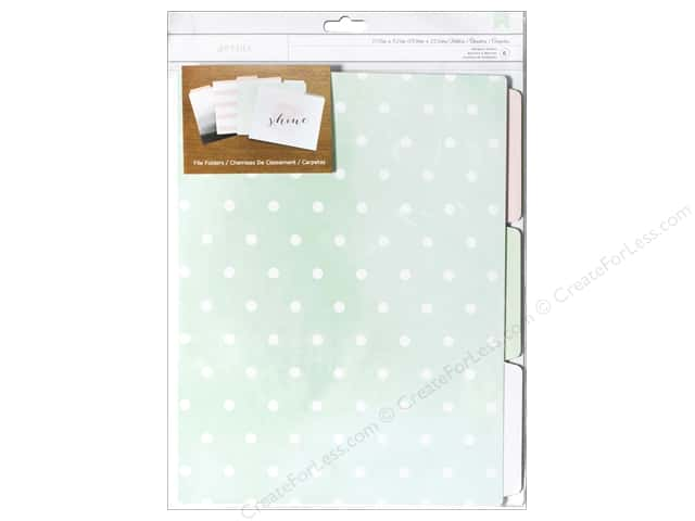 American Crafts Designer Desktop Essentials File Folders 6 pc. Be-You-Tiful