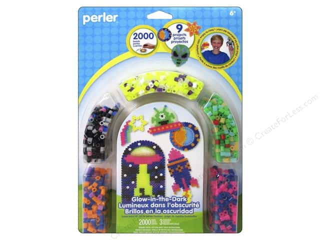 Perler Fused Bead Kit Glow In The Dark