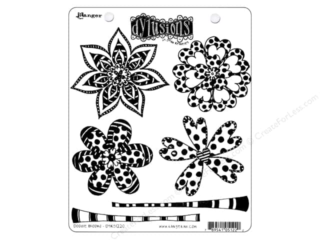 Ranger Stamp Dylusions Cling Doodle Blooms