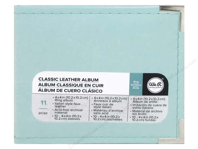 We R Memory Keepers Classic Leather 2-Ring Album 4 x 4 in. Mint