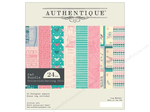 Authentique 6 x 6 in. Paper Bundle Darling Girl Collection