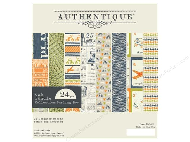 Authentique 6 x 6 in. Paper Bundle Darling Boy Collection