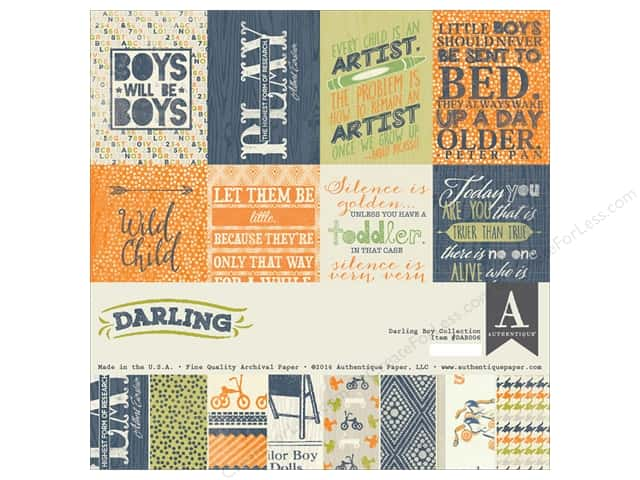 Authentique 12 x 12 in. Collection Kit Darling Boy