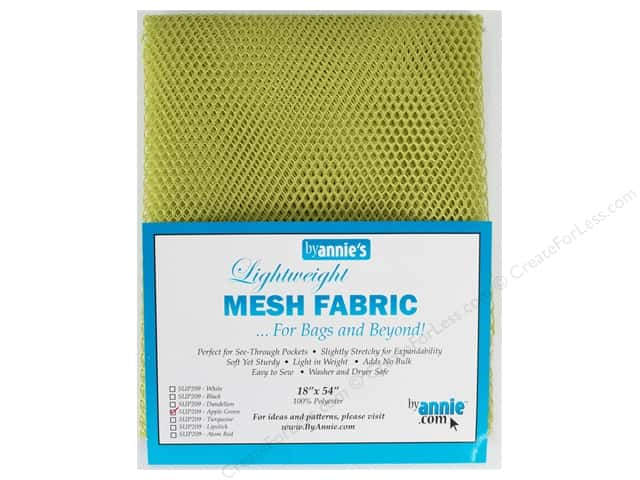 By Annie Lightweight Mesh Fabric 18 x 54 in. Apple Green