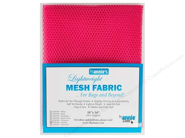 By Annie Lightweight Mesh Fabric 18 x 54 in. Lipstick