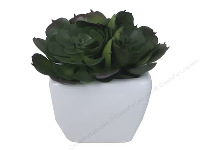 Floracraft SimpleStyle Decor Succulent/Pot Large (3 pieces)