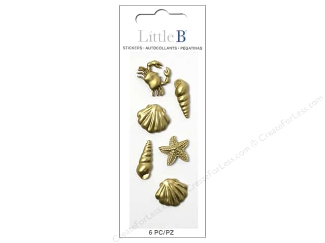 Little B Sticker Mini Sealife Gold