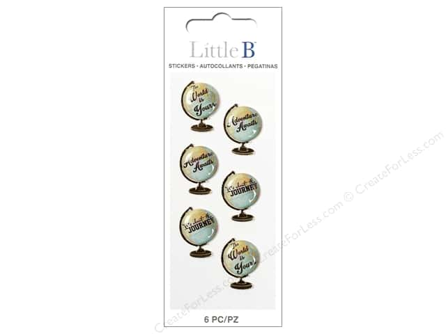 Little B Sticker Mini Globe Sentiments