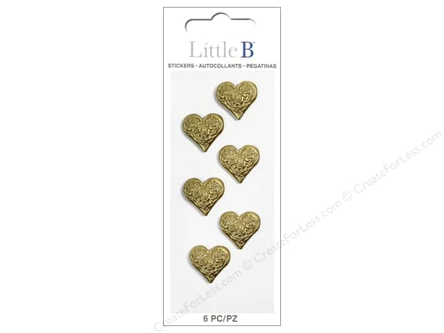 Little B Sticker Mini Hearts Gold