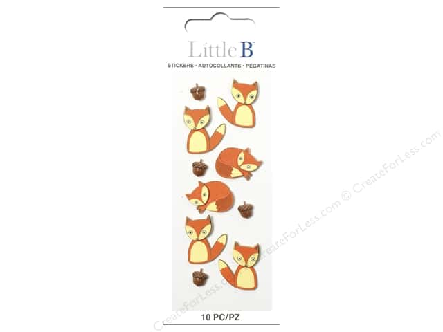 Little B Sticker Mini Foxes