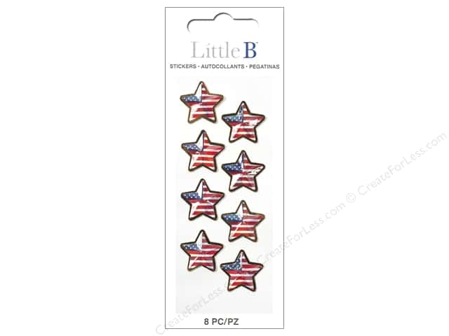 Little B Sticker Mini US Flag Stars